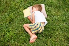 Summer time with the book. Reading concept. royalty free stock photos