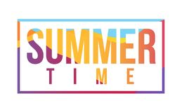 Summer time bright color sign. Stock Photos