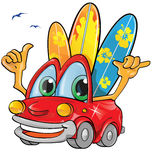 Summer time car cartoon Stock Photo