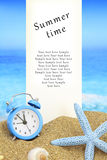 Summer time card Stock Photography