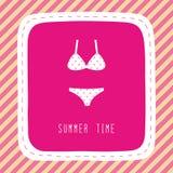 Summer time card1 Fotografía de archivo libre de regalías