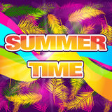 Summer Time Card. Royalty Free Stock Images