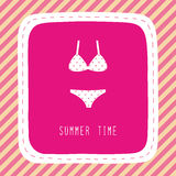 Summer time card1 Royalty Free Stock Photography