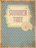Summer time card with shell. Vector illustration Royalty Free Stock Photos