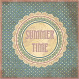 Summer time card in vintage style Royalty Free Stock Image