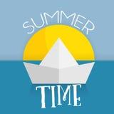 Summer time card web icon Royalty Free Stock Photos