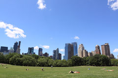 Summer Time In Central Park Stock Photos