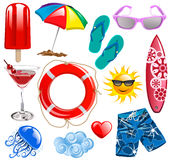 Summer time. Collection elements for graphic design Stock Photo