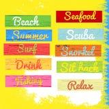 Beach sign wood grunge texture Stock Photo