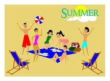Summer time concept Stock Image