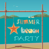 Summer time concept royalty free illustration