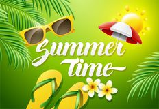 Summer Time Concept illustration Royalty Free Stock Photo