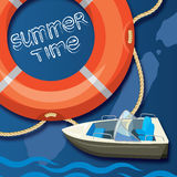 Summer time creative design template Stock Photo