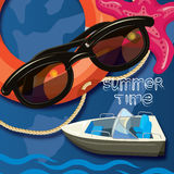 Summer time creative design template Stock Images