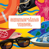 Summer time creative design template Royalty Free Stock Photography