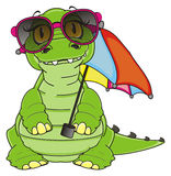 Summer time for crocodile Royalty Free Stock Images