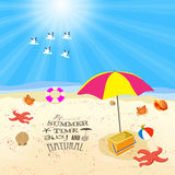 The summer time enjoy and natural Royalty Free Stock Photography
