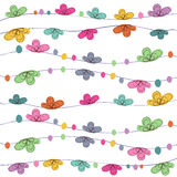 Summer time floral abstract background vector Royalty Free Stock Photos