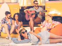 Summer time with friends. Royalty Free Stock Photo