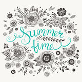 Summer time greeting card Stock Photos