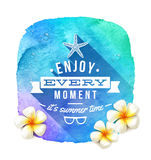 Summer time greeting Royalty Free Stock Image