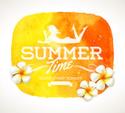 Summer time greeting royalty free illustration