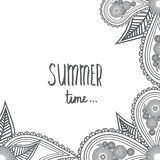 Summer time - Hand Drawn brush text. Handmade lettering for your Royalty Free Stock Photos