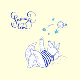 Summer time. hand drawn illustration Stock Images