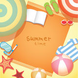 Summer time holiday background Stock Image