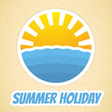 Summer time icon Stock Photo