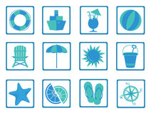 Summer Time icons Stock Photo