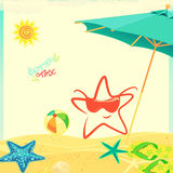 Summer Time İllustration Stock Photography