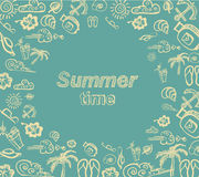 Summer time  illustration Stock Images