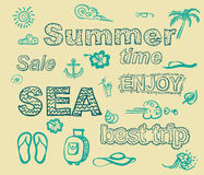 Summer time  illustration Royalty Free Stock Photography