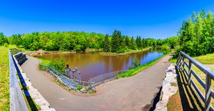 Free Summer Time In Centennial Park, Moncton, New Brunswick, Canada Royalty Free Stock Photo - 119055545