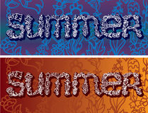 Summer time  inscription Stock Photo