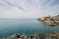 Summer time landscape with sea horizon, Italy. Royalty Free Stock Photo