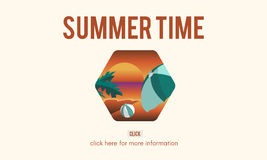 Summer Time Let`s Travel Holiday Concept. Summer Time Let`s Travel Holiday Royalty Free Stock Photos