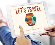 Summer Time Let`s Travel Holiday Concept. People Having Summer Time Travel Holiday Royalty Free Stock Photography