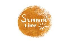 Summer time lettering stock illustration