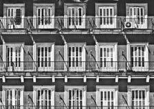 White windows, Madrid stock images