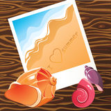 Summer time memories. Vector illustration Stock Photos