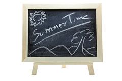 Summer Time On Blackboard Royalty Free Stock Photos