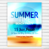 Summer time party flyer Stock Images