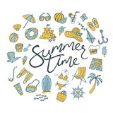 Summer time pattern Royalty Free Stock Images
