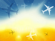 Summer Time Plane Flight Travel Royalty Free Stock Photo