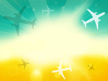 Summer Time Plane Flight Travel Royalty Free Stock Photography