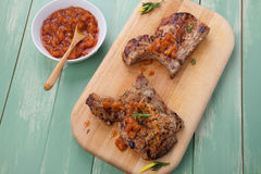 Summer Time Pork Chops Stock Photography