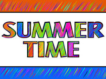 Summer time poster Stock Image