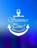 Summer time poster design Stock Image